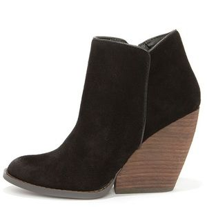 Very Volatile Whitby Black Suede Leather Booties